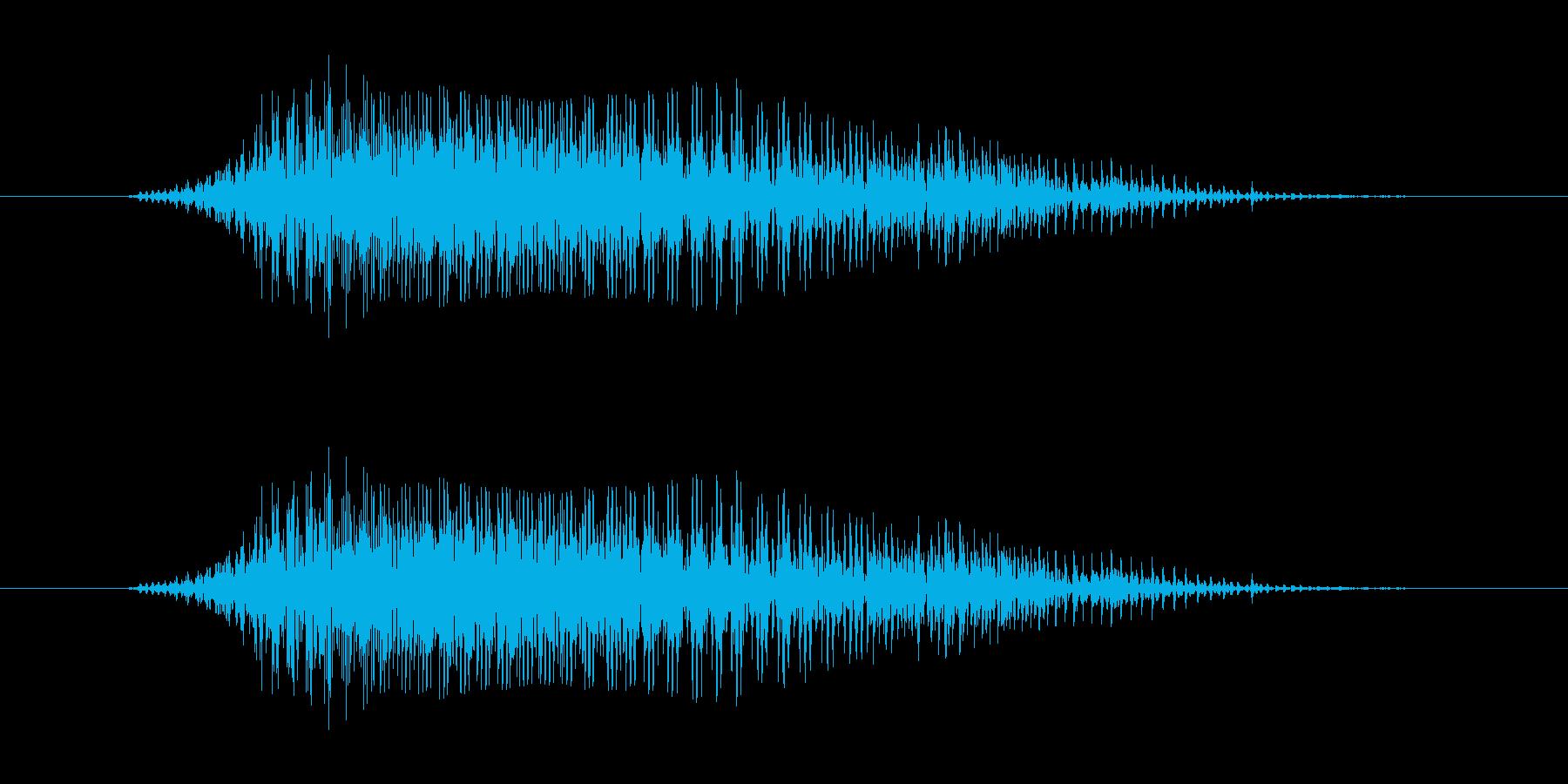 やぁーっ!! - 男性和風掛け声の再生済みの波形