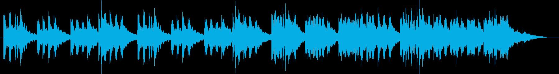 落ち着くオルゴールの再生済みの波形