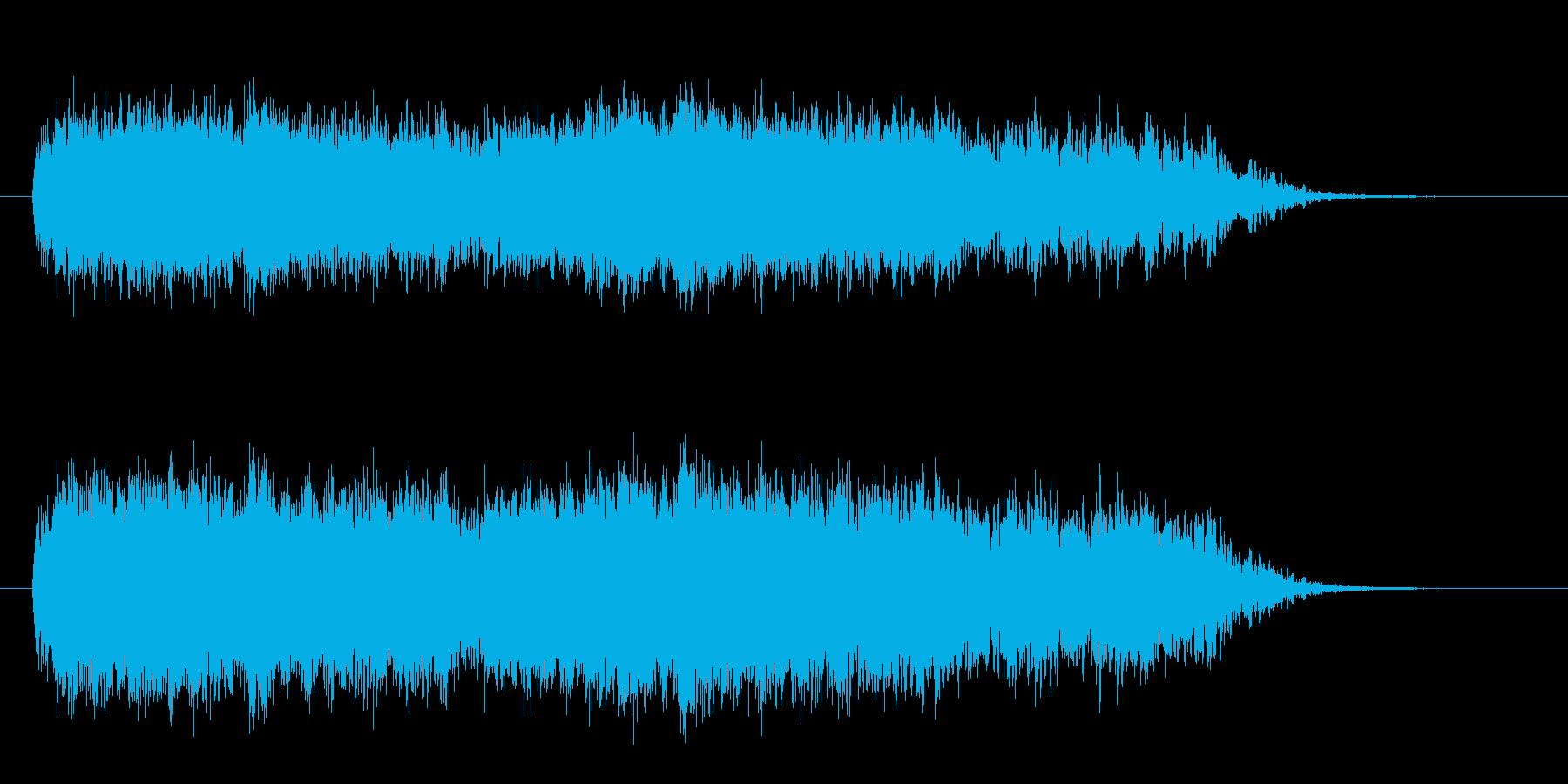 ホーワーワー(ミステリアスな効果音)の再生済みの波形