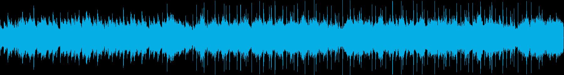 ハロウィンをイメージした怪しい雰囲気の曲の再生済みの波形