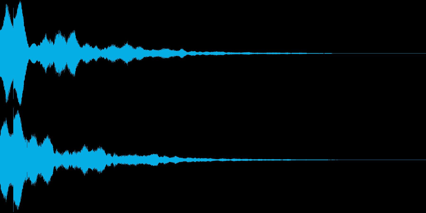 閃き 気付き 思いつき キーン ピコーンの再生済みの波形