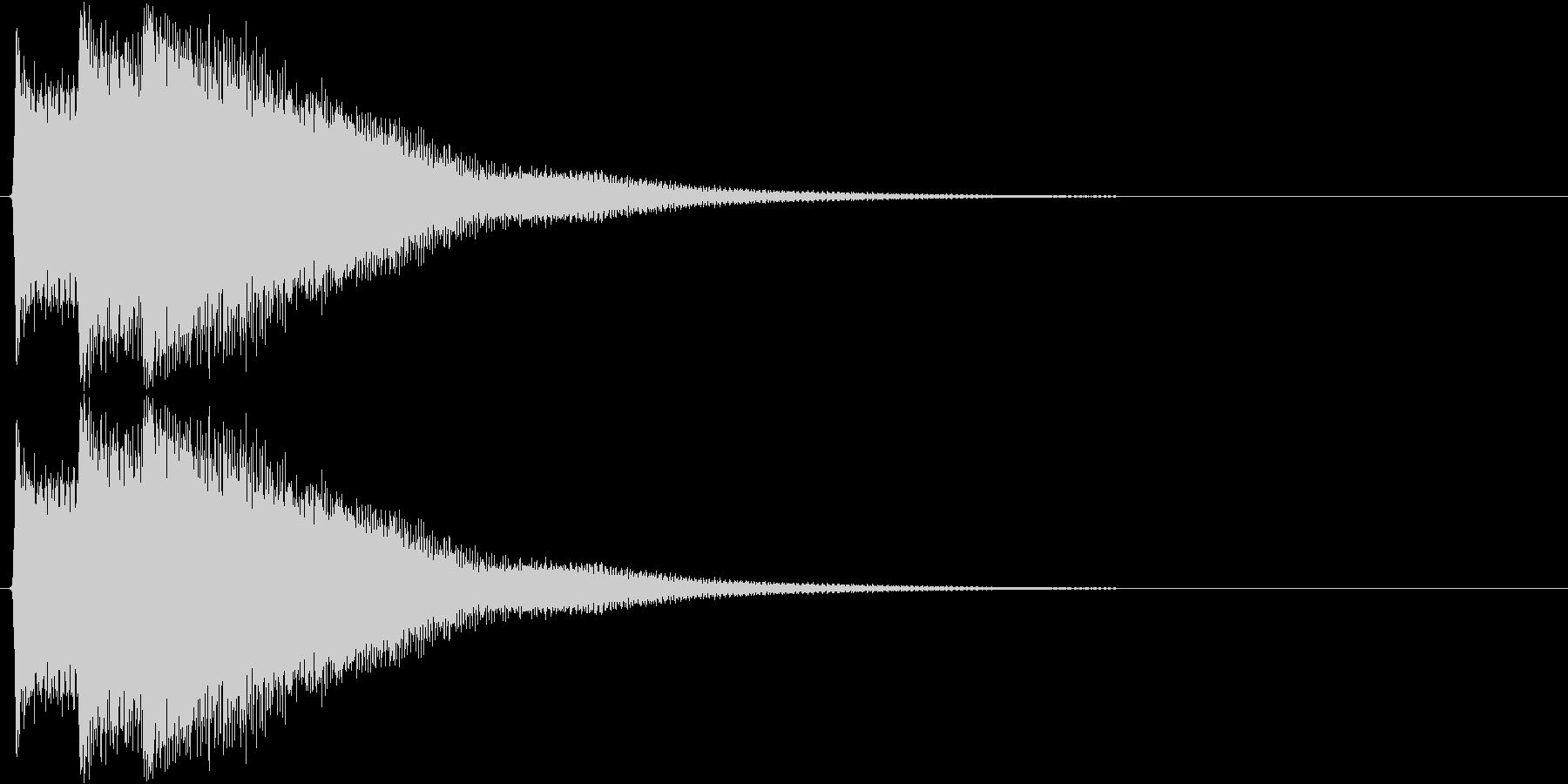 ピポピポーン(正解、チャイム)の未再生の波形