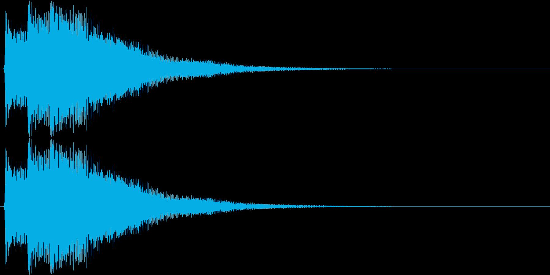 ピポピポーン(正解、チャイム)の再生済みの波形
