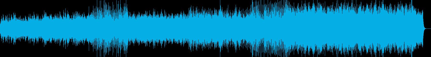 ピアノとバイオリンの癒し系バラードの再生済みの波形