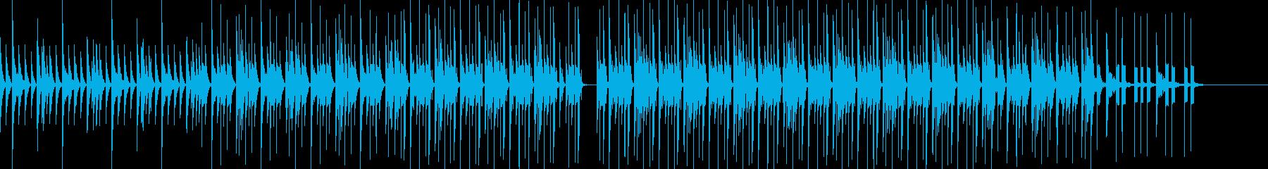 ミニマルな雰囲気のテクノの再生済みの波形