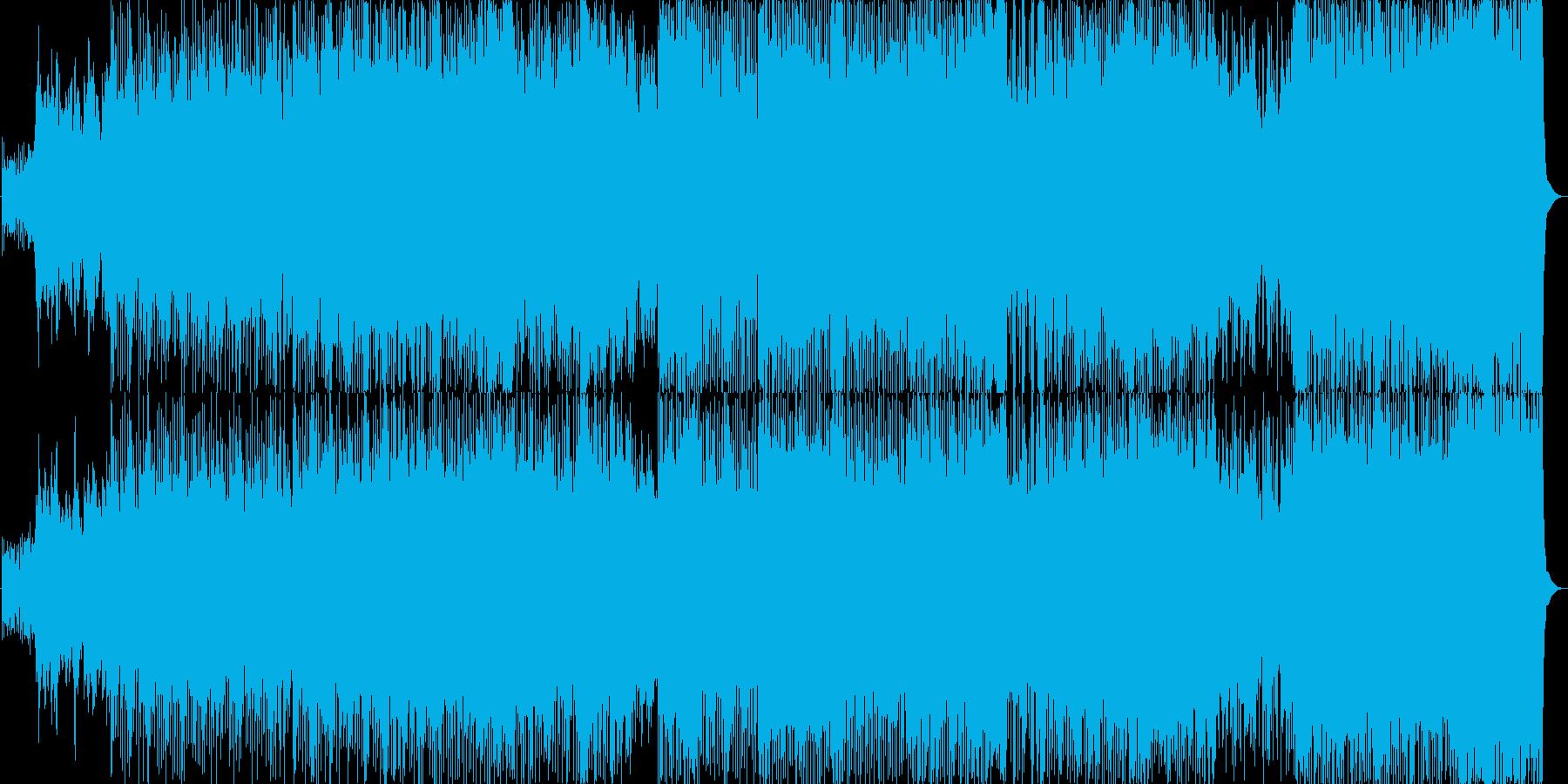 勇壮で爽やかなオーケストラ曲の再生済みの波形
