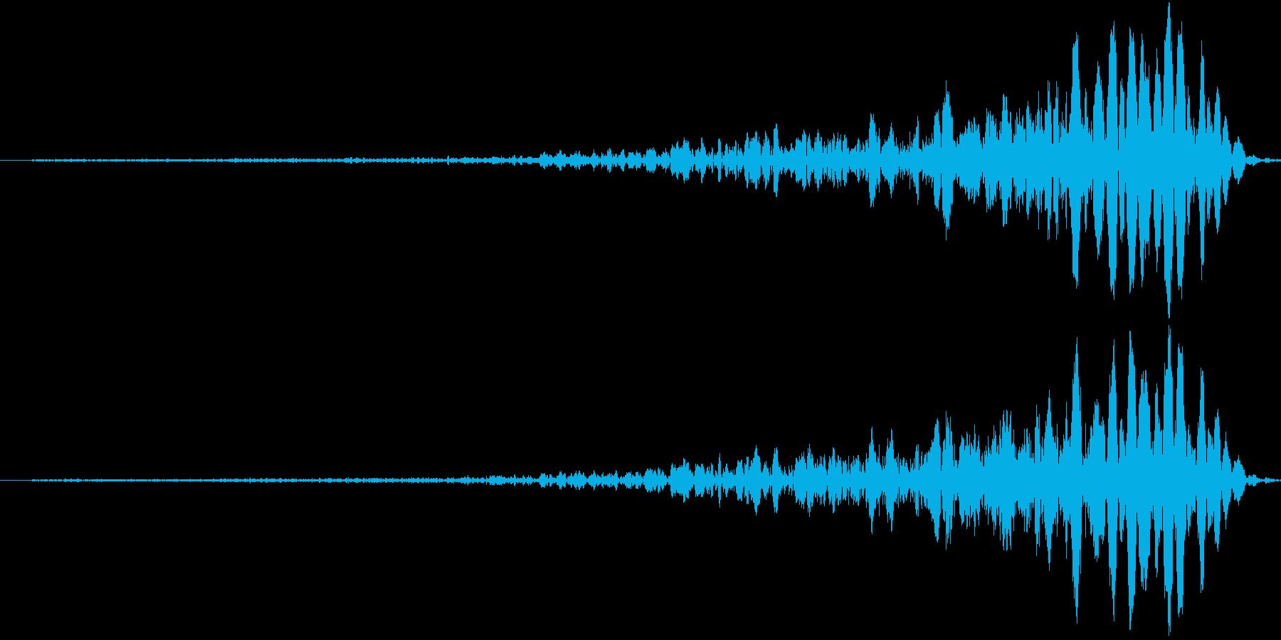 パンチ寸止めの再生済みの波形