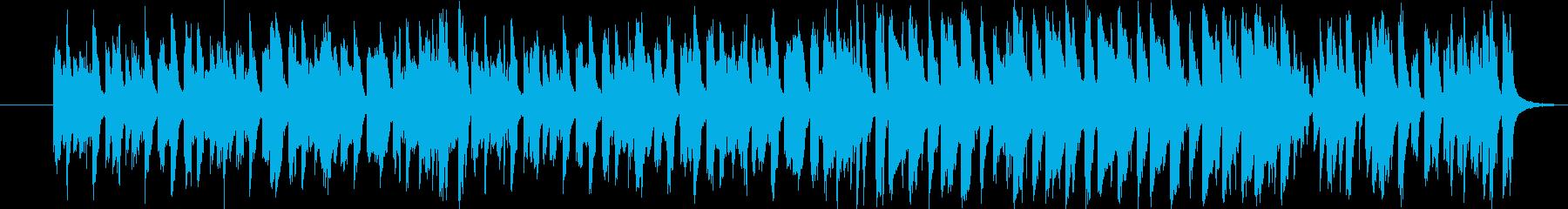 明るく楽しいコミカルな雰囲気のBGMの再生済みの波形