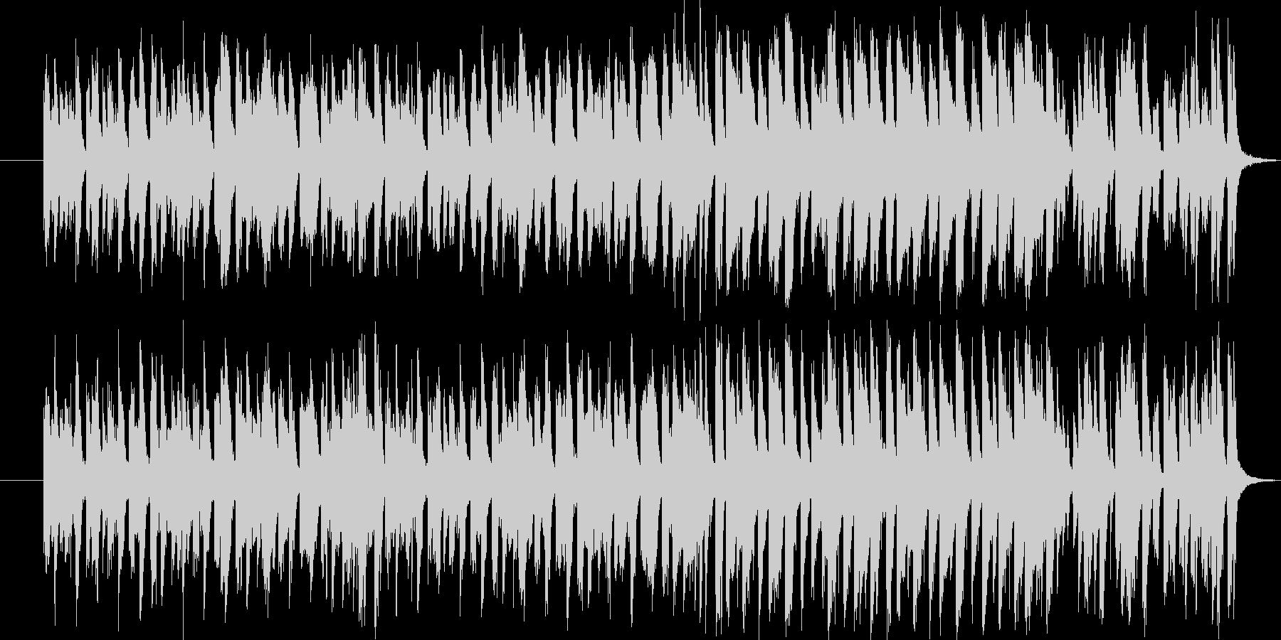 明るく楽しいコミカルな雰囲気のBGMの未再生の波形