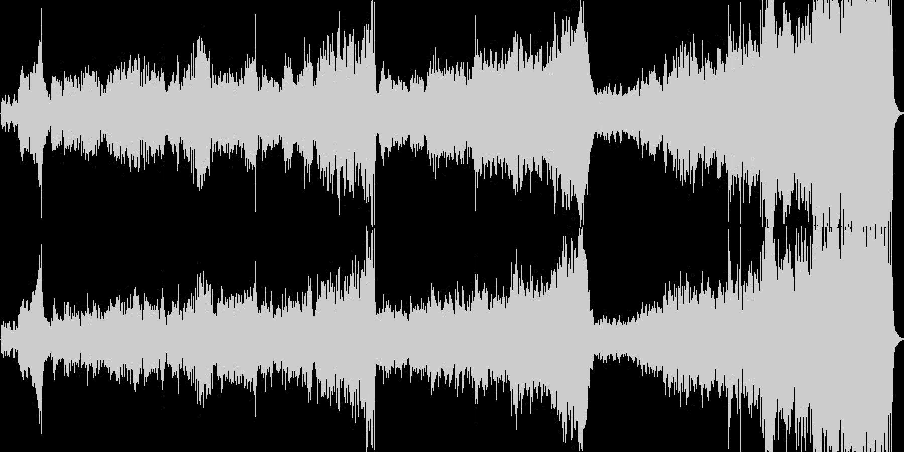 ファンタジーで壮大なオーケストラワルツの未再生の波形