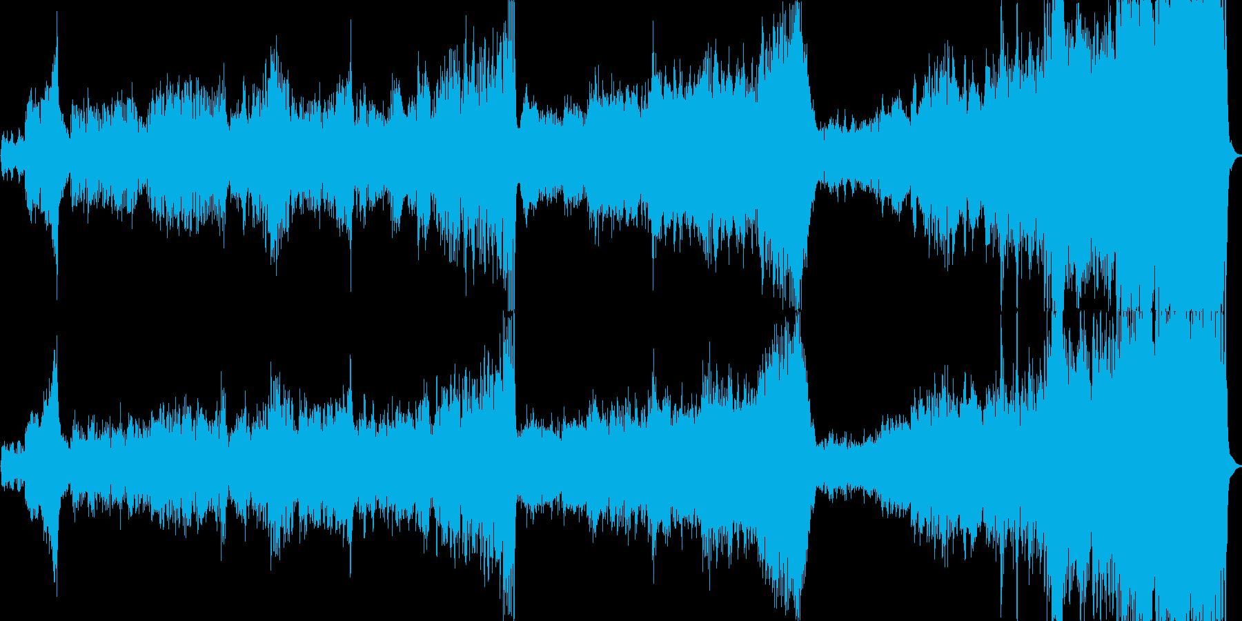 ファンタジーで壮大なオーケストラワルツの再生済みの波形