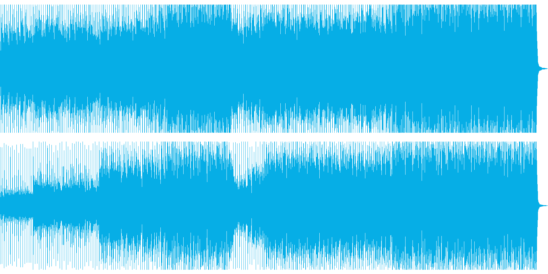 おしゃれアコースティックBGM メロ抜きの再生済みの波形