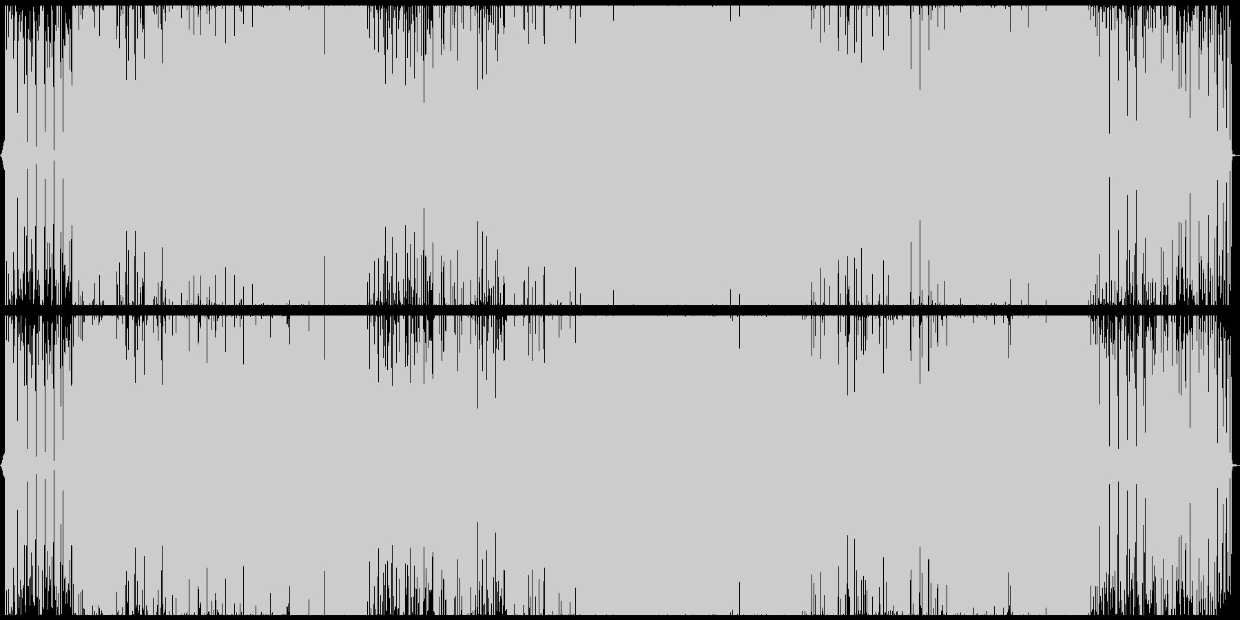 近未来的な女性ボーカルのエレクトロポップの未再生の波形