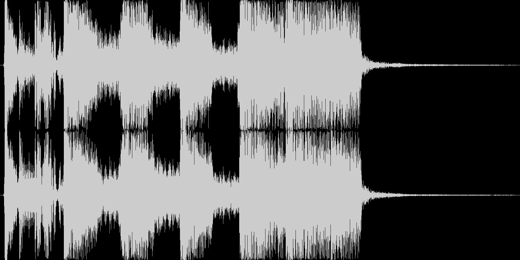 ロックバンドによる派手な生演奏ジングルBの未再生の波形