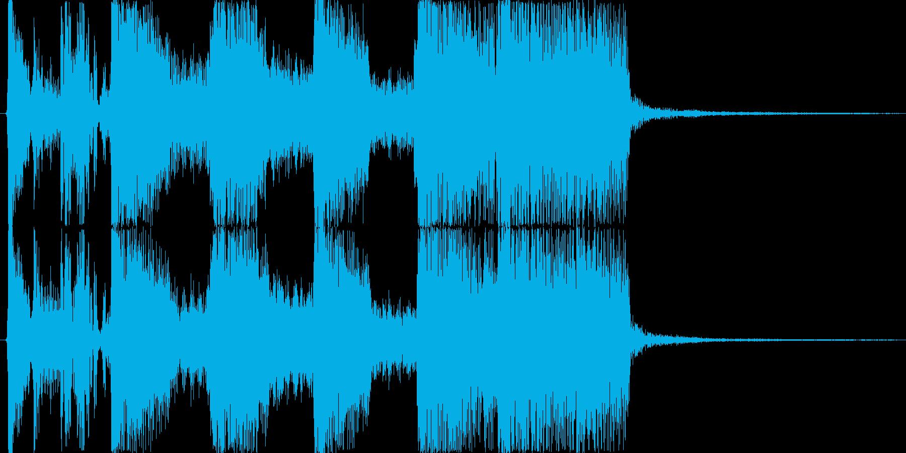 ロックバンドによる派手な生演奏ジングルBの再生済みの波形