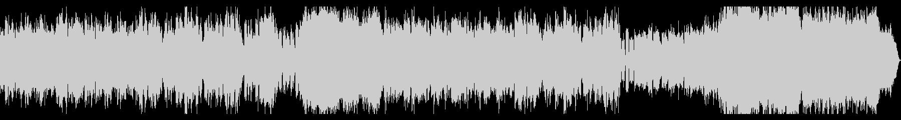 ホラー系ダークな曲 ベースとオーケストラの未再生の波形
