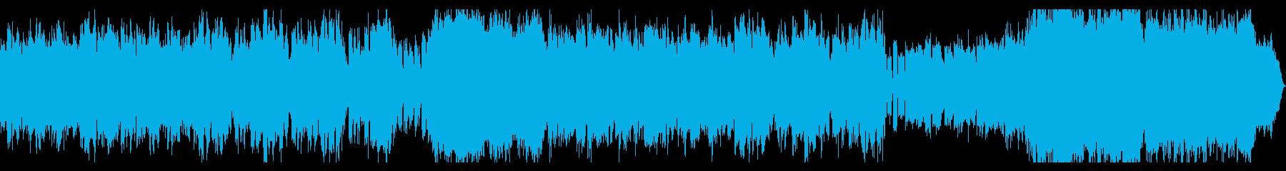 ホラー系ダークな曲 ベースとオーケストラの再生済みの波形