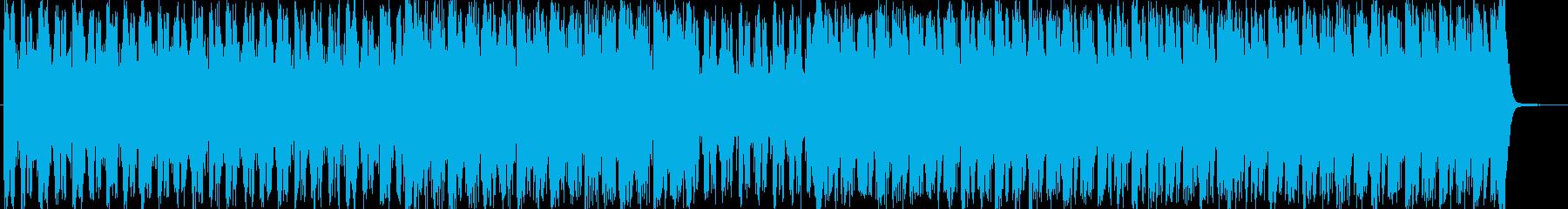 ドキドキ緊張感のあるテクノポップの再生済みの波形
