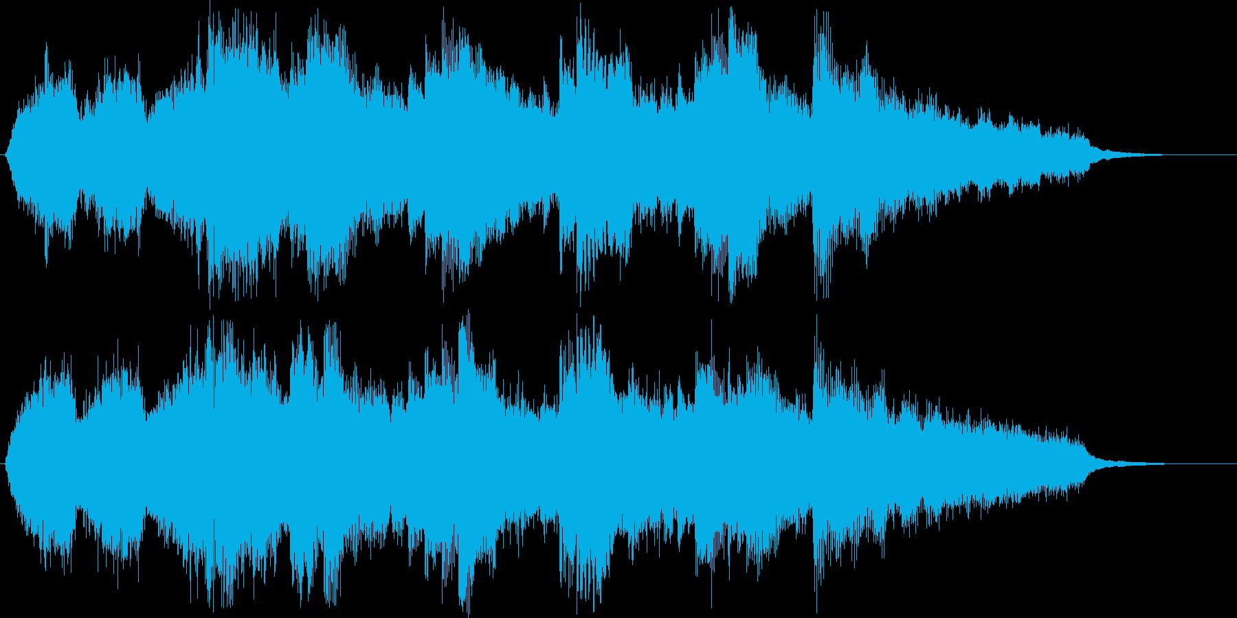 幻想的でキレイなショートソングの再生済みの波形