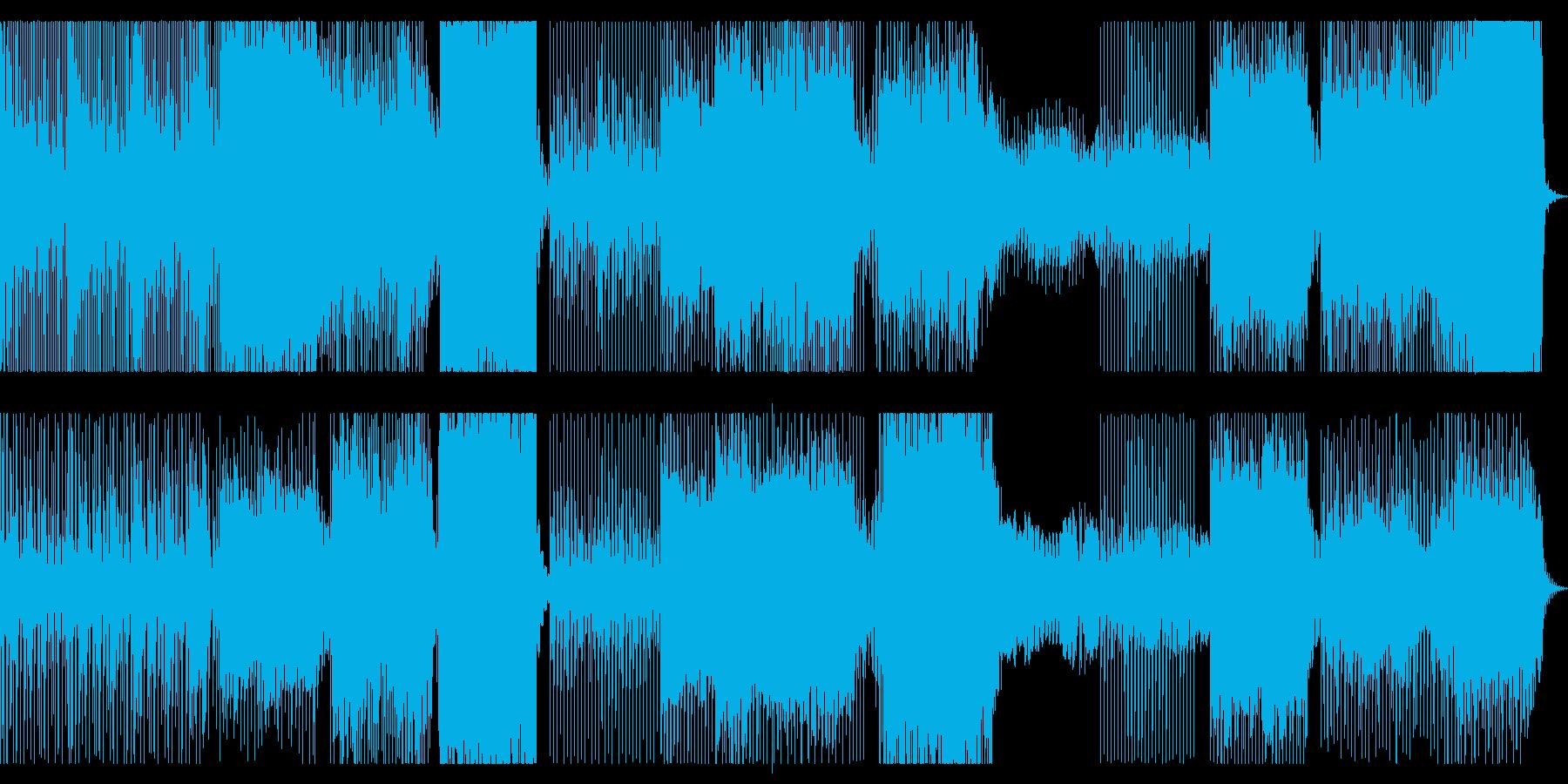 躍動感が有り、前進してゆくイメージの再生済みの波形