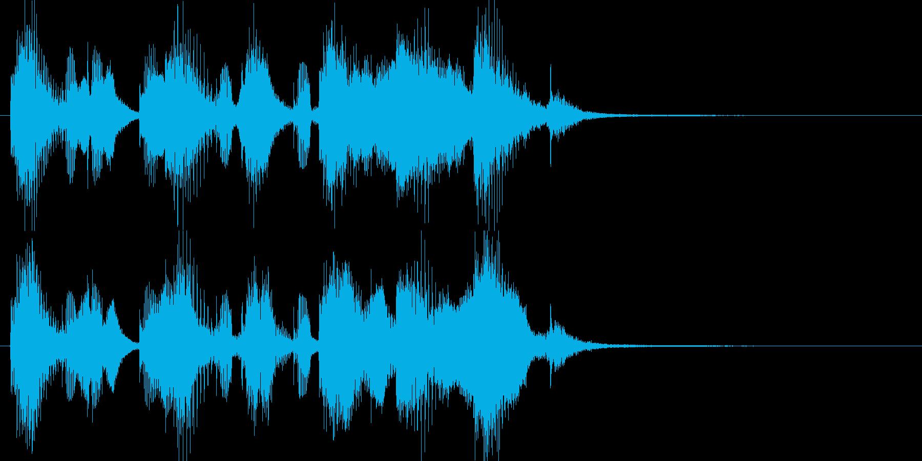 吹奏楽で出囃子や入場レベルアップゲーム用の再生済みの波形