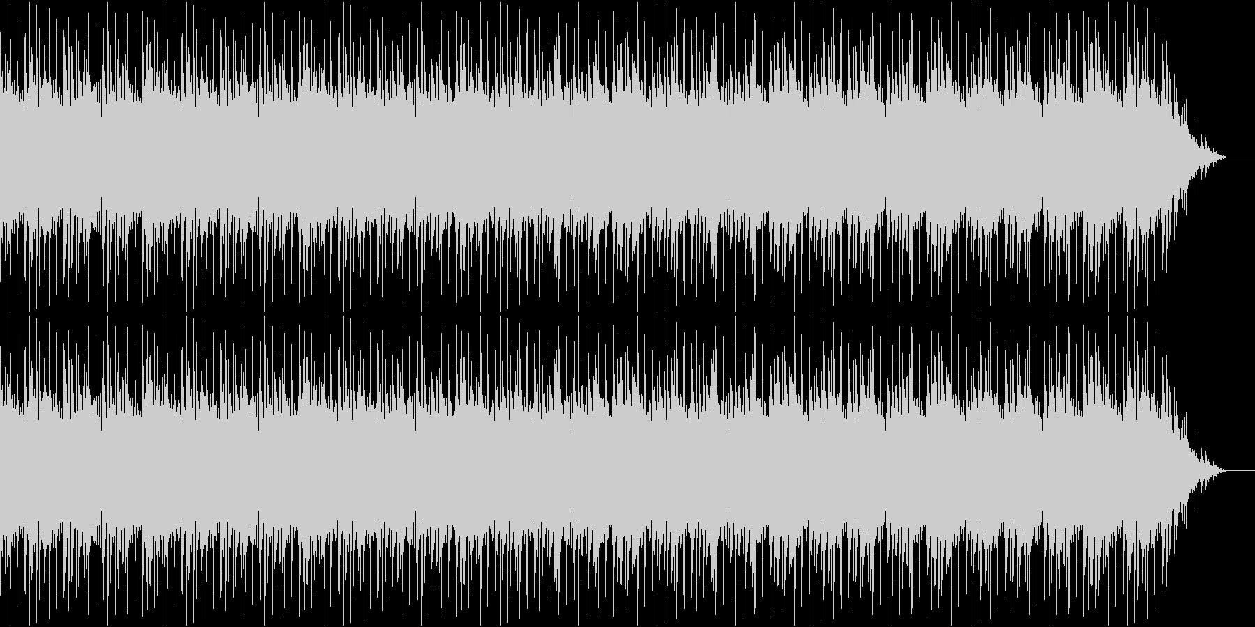 歪んだベースのソロの未再生の波形