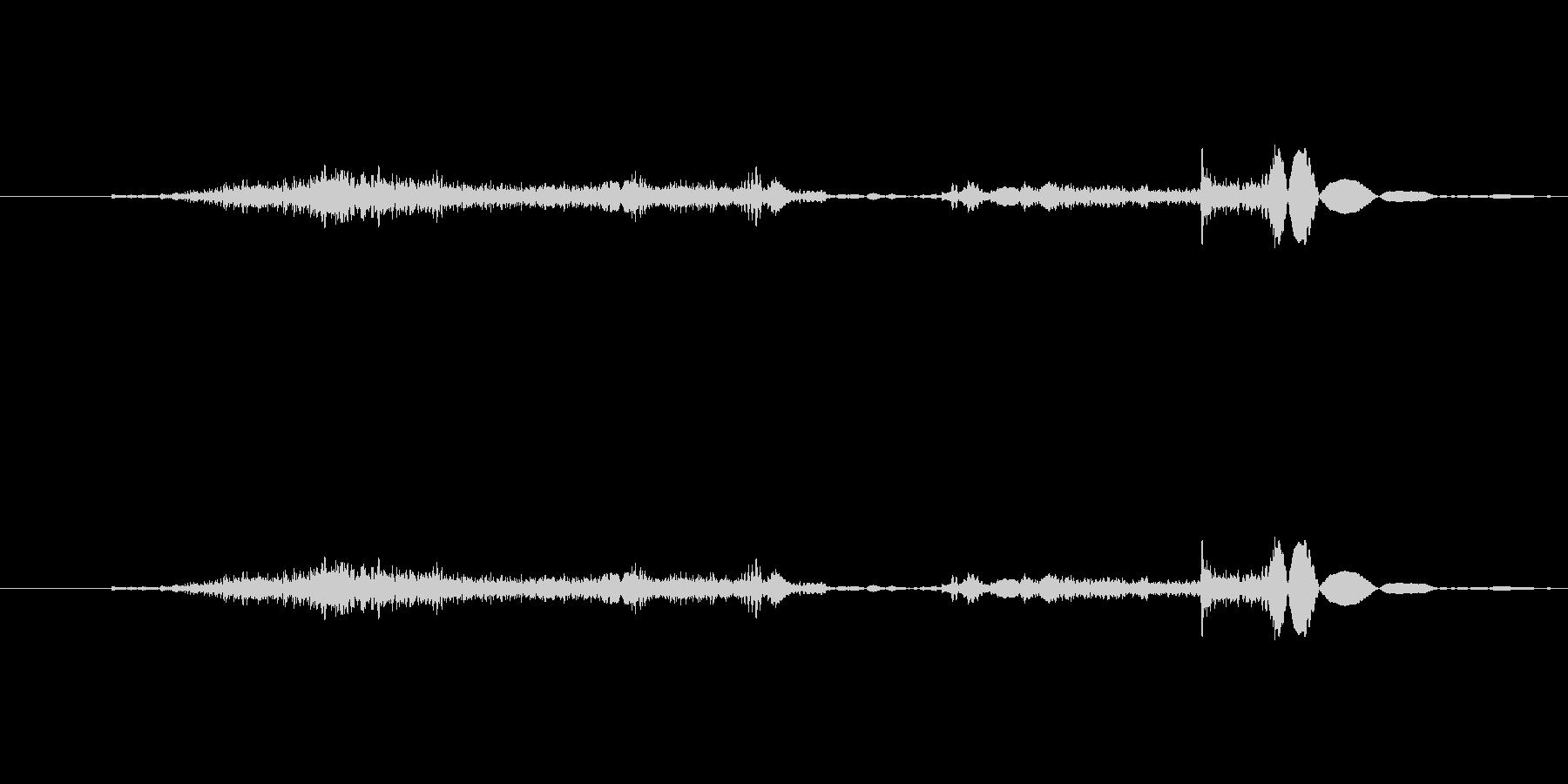 空ける音 (スーッの未再生の波形