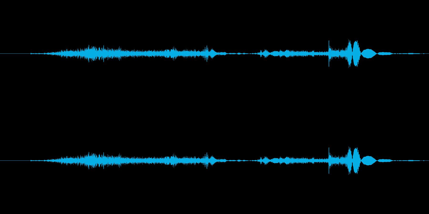 空ける音 (スーッの再生済みの波形