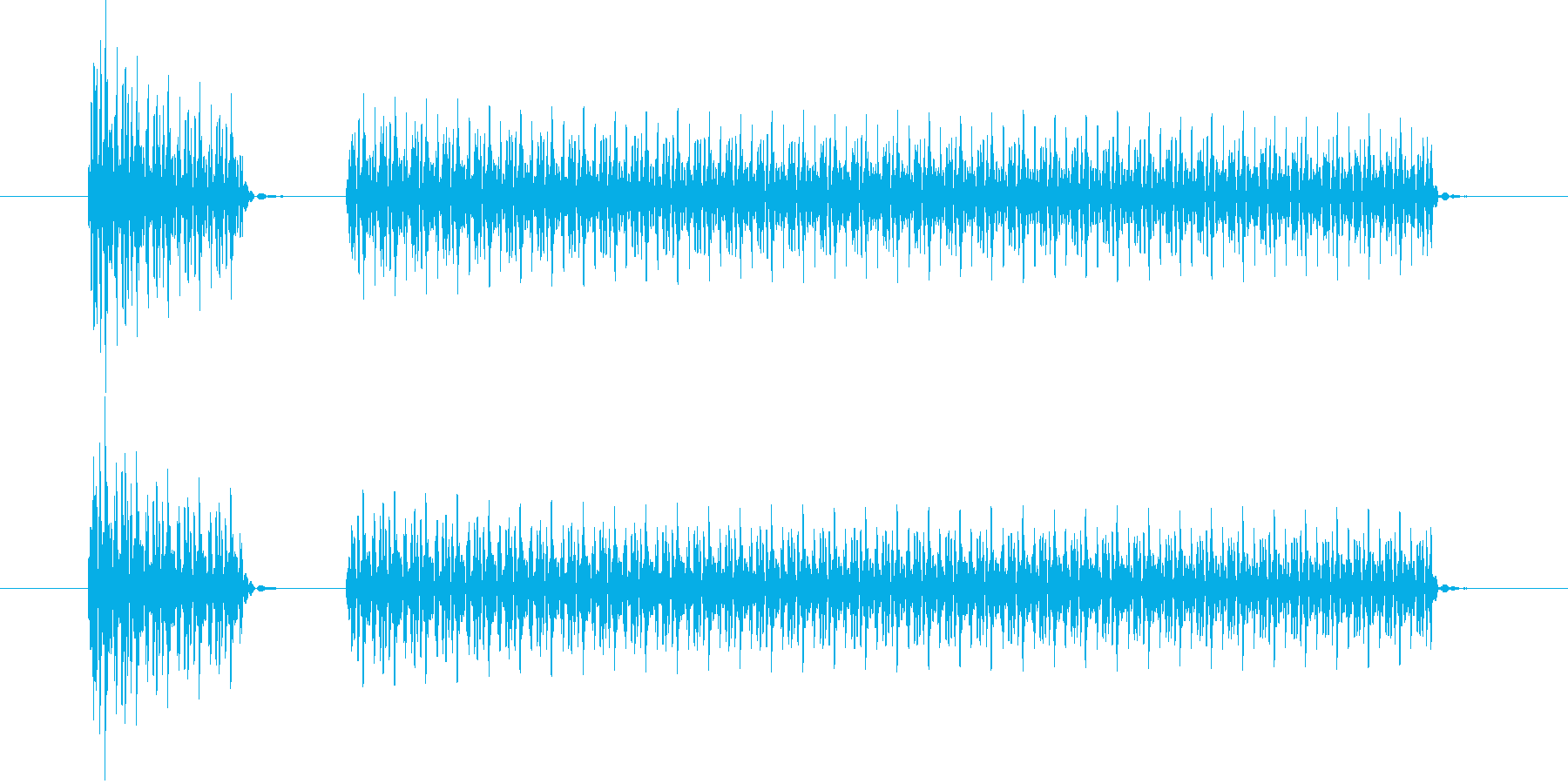 ブブー(クイズ・不正解・ブザー音)02の再生済みの波形