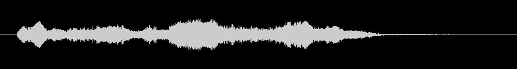 80'sシンセ調明るい着信音の未再生の波形