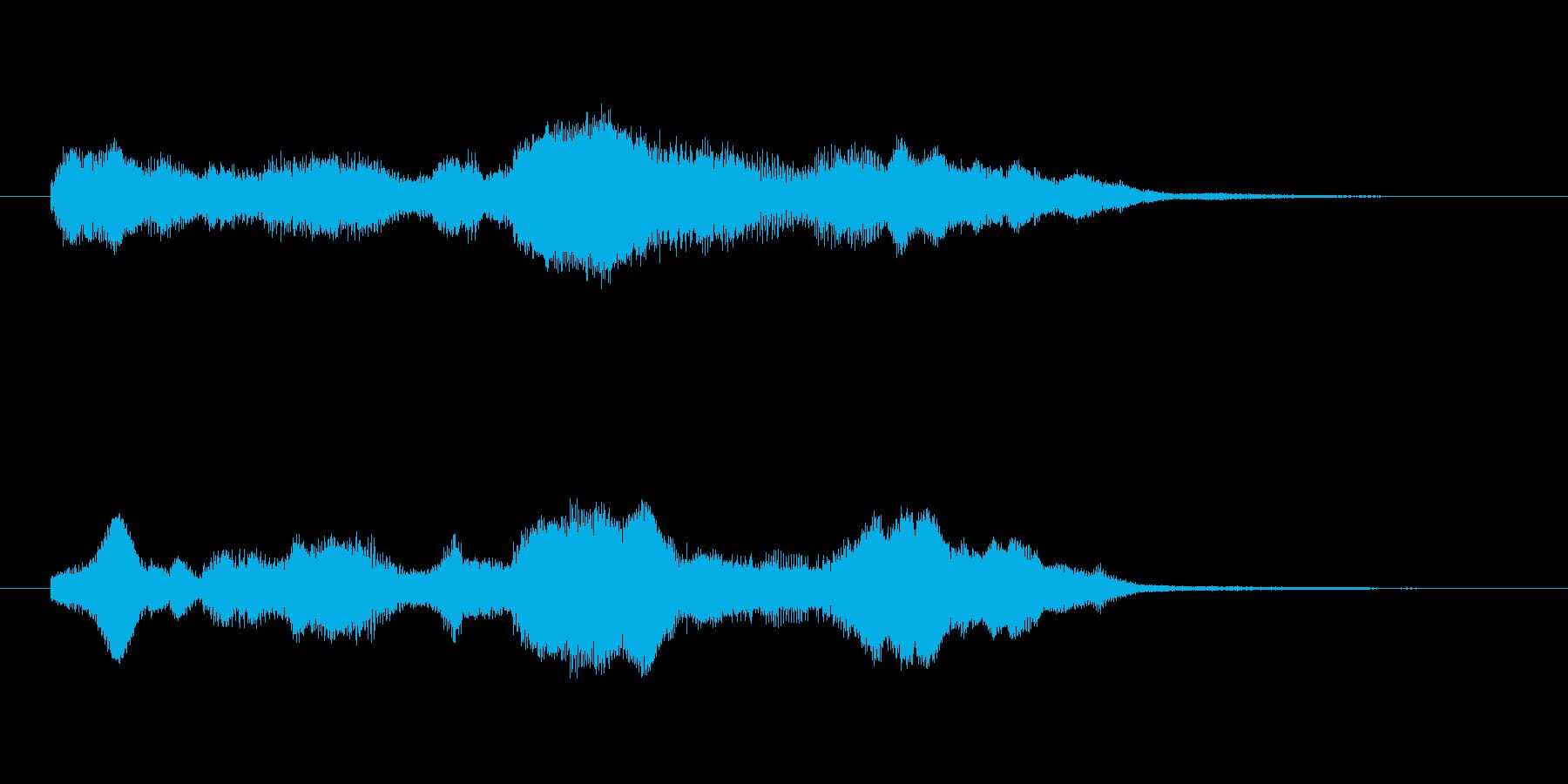 80'sシンセ調明るい着信音の再生済みの波形