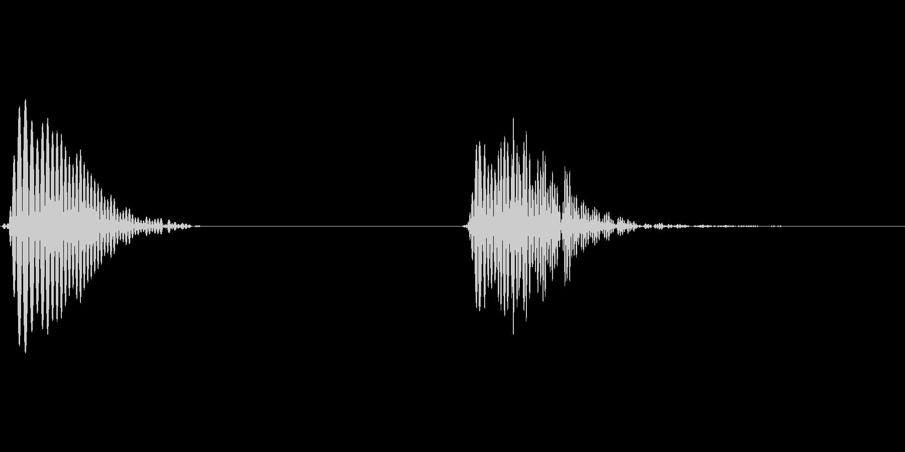 アプリ用汎用タップ音の未再生の波形