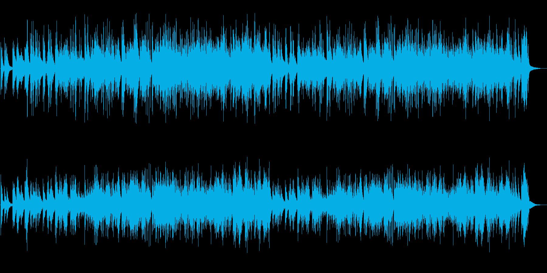 穏やかで温かみのあるピアノソロの再生済みの波形