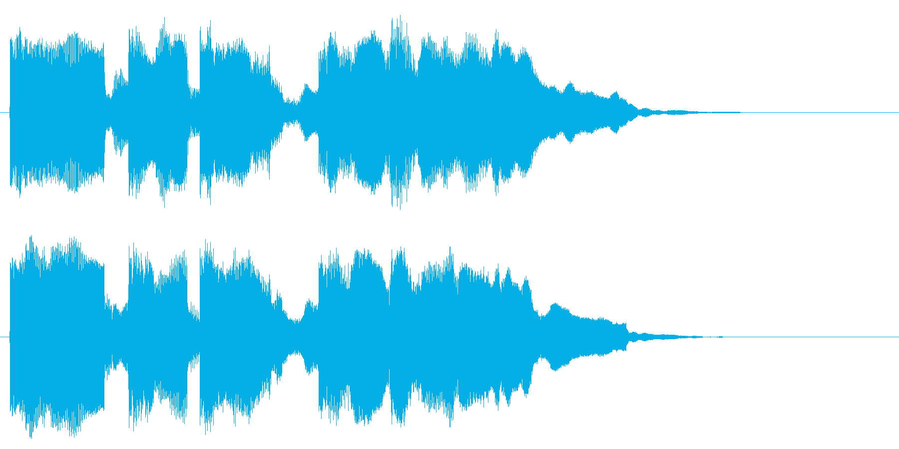 コミカルな音 マヌケなフレーズ 面白い音の再生済みの波形