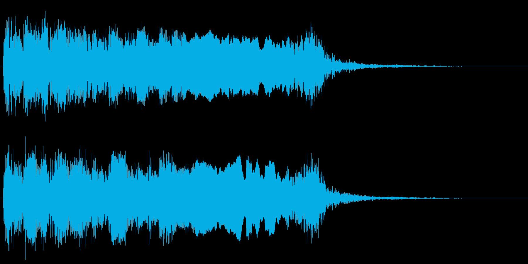 ネオクラシカルなメタルギターフレーズの再生済みの波形