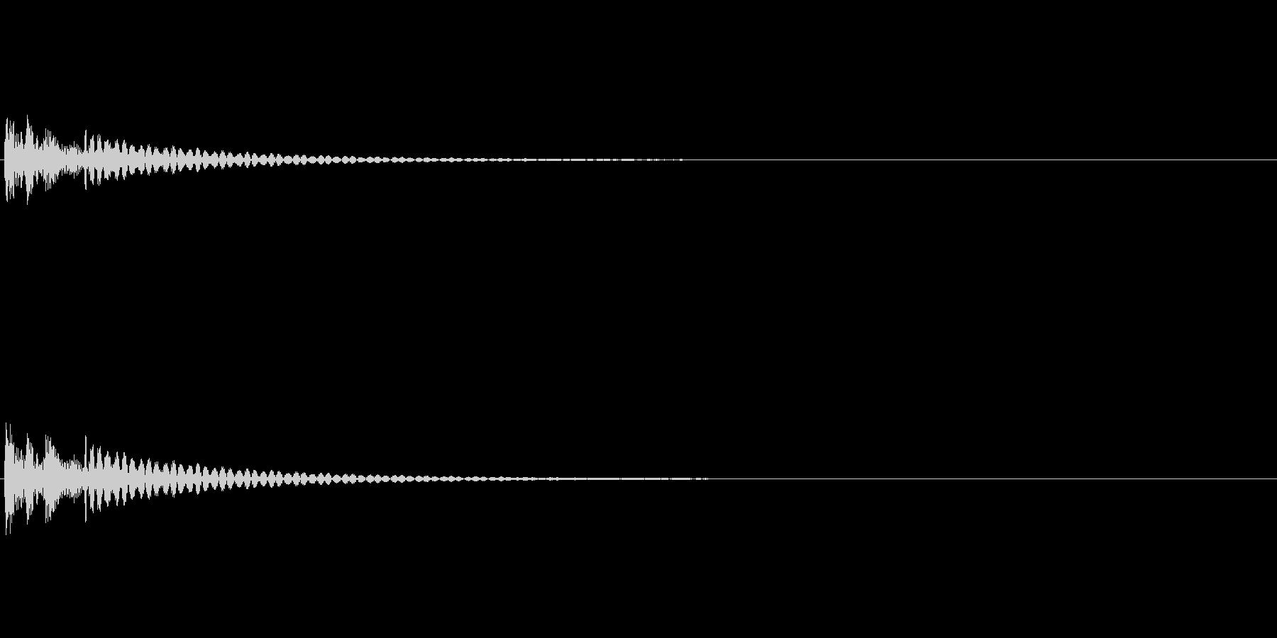 決定音 シンプル 汎用の未再生の波形