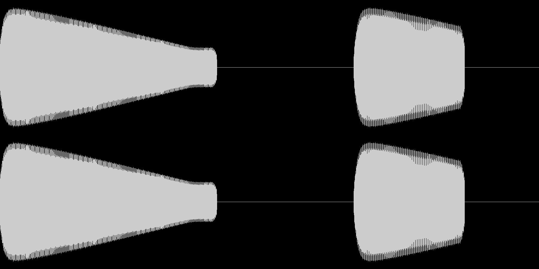 レトロゲーム風効果音「ピコ」高めの未再生の波形