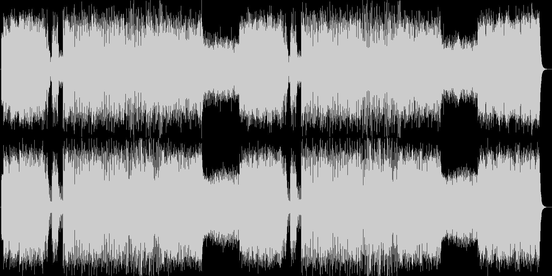 軽快でベースとドラムが印象的なロックの未再生の波形