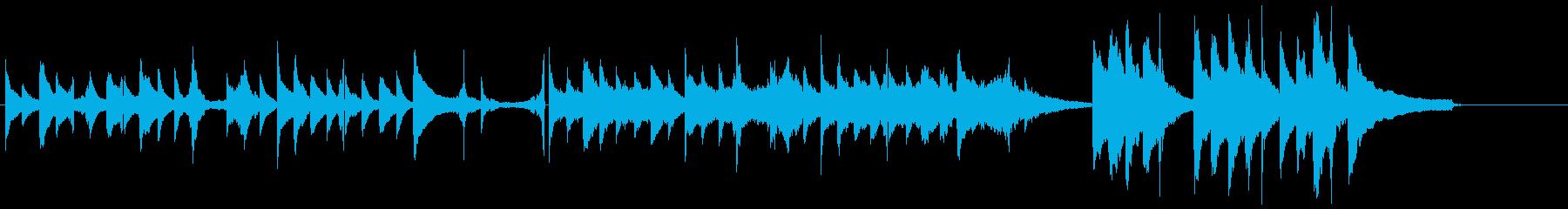 ピアノ:宇宙/交信/神秘的/回想/映像の再生済みの波形