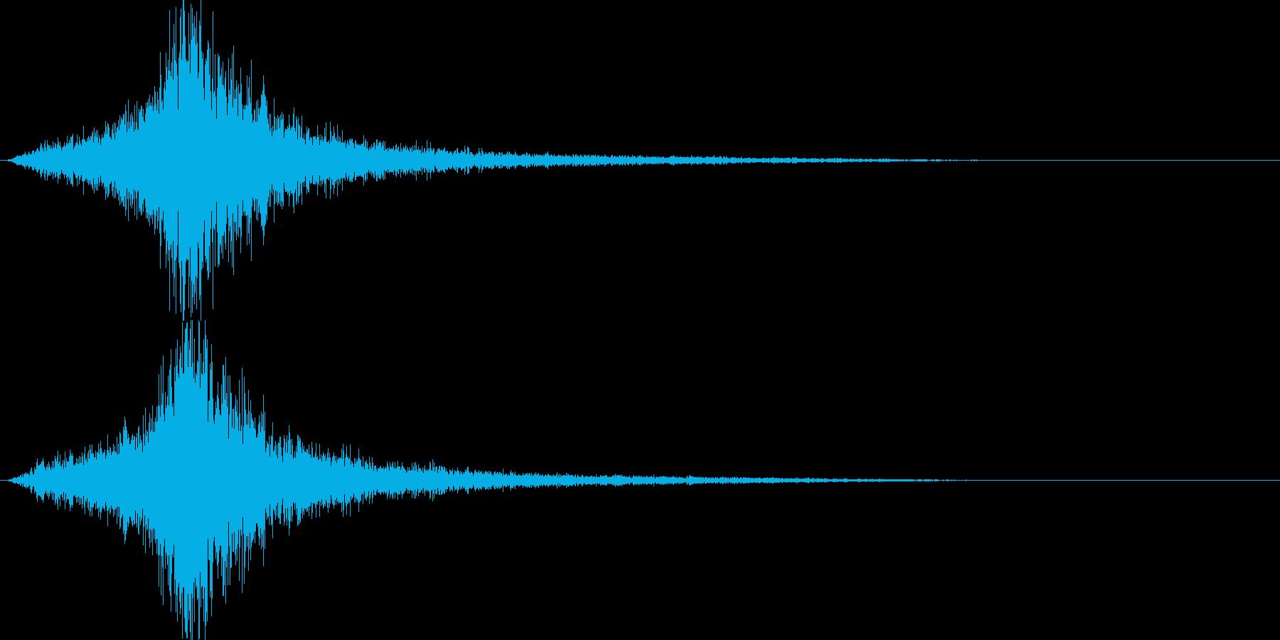 映画が始まる前の音ですの再生済みの波形