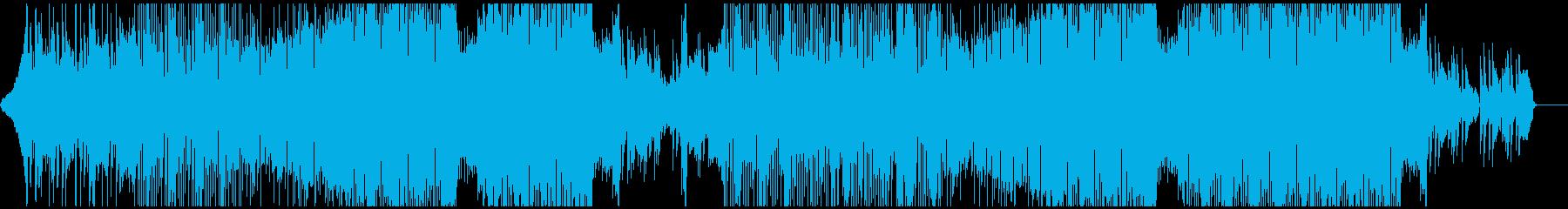 アコースティックギターのフォークトロニカの再生済みの波形