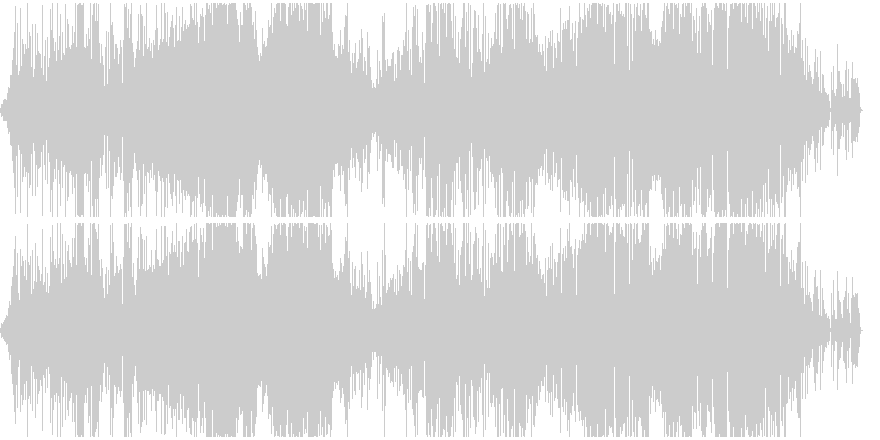 アコースティックギターのフォークトロニカの未再生の波形