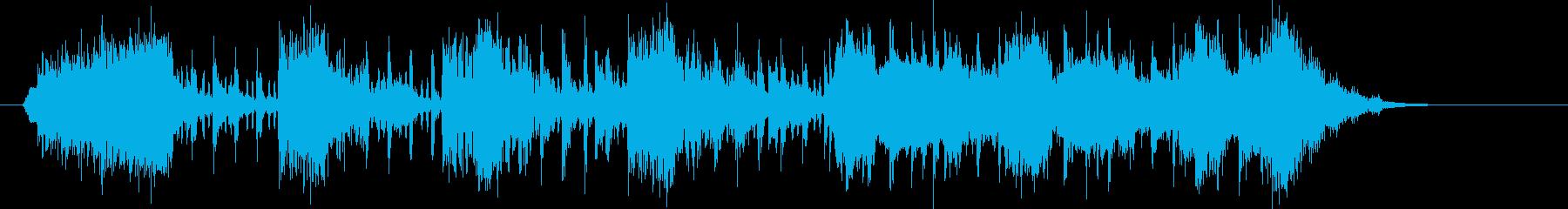 スラップベースとストリングスのグルーブの再生済みの波形
