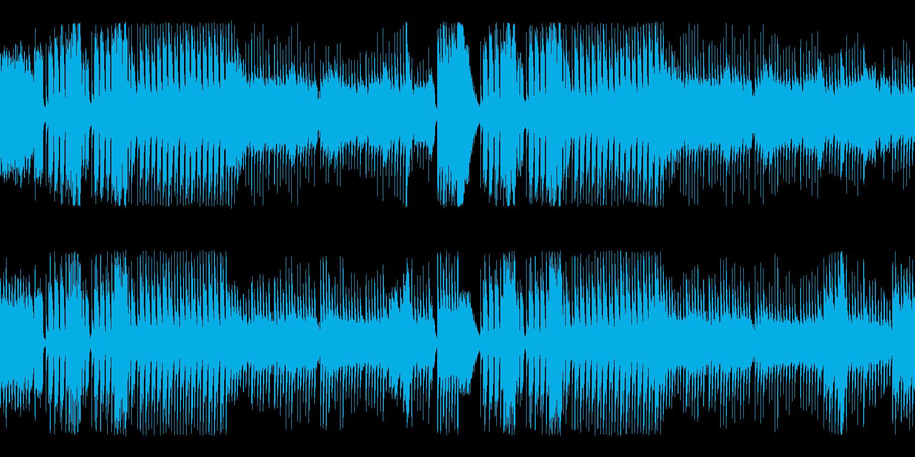 メルヘンかわいいおもちゃのピアノループの再生済みの波形