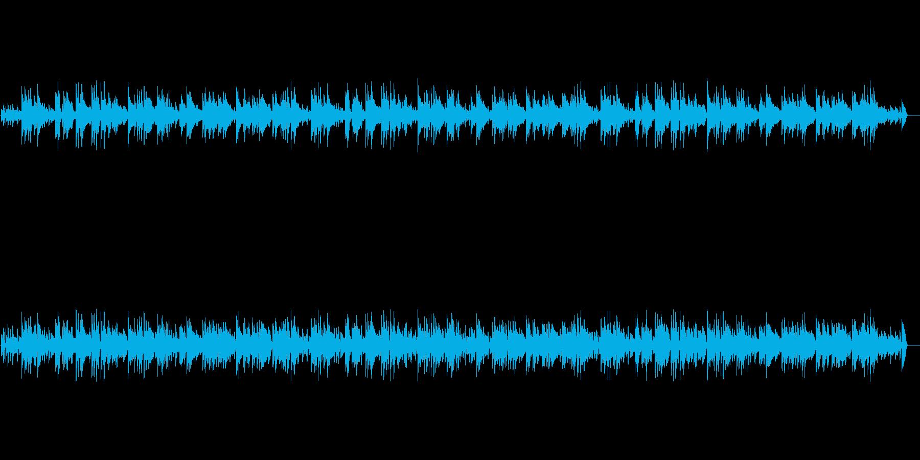 オシャレでシンプルなピアノBGM。の再生済みの波形