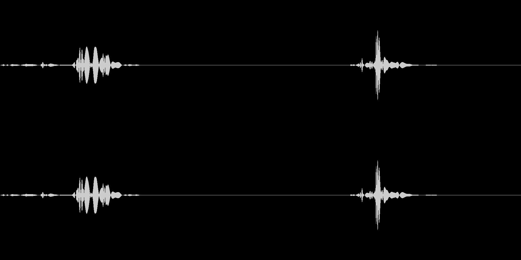 電話に出る描写に合うノイズの未再生の波形