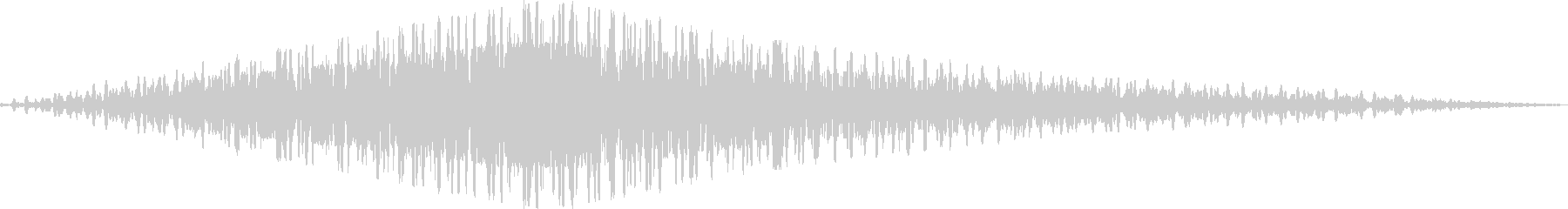 シンセの回転音の未再生の波形