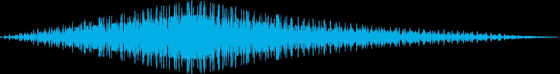 シンセの回転音の再生済みの波形