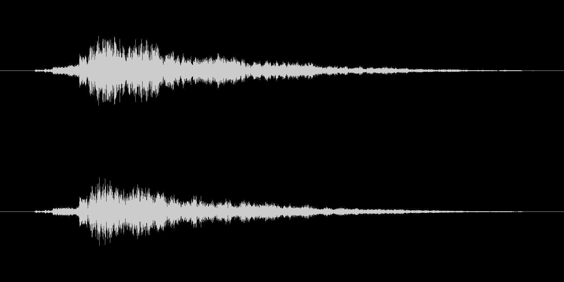 タッチ決定クリック音やサウンドロゴに9!の未再生の波形