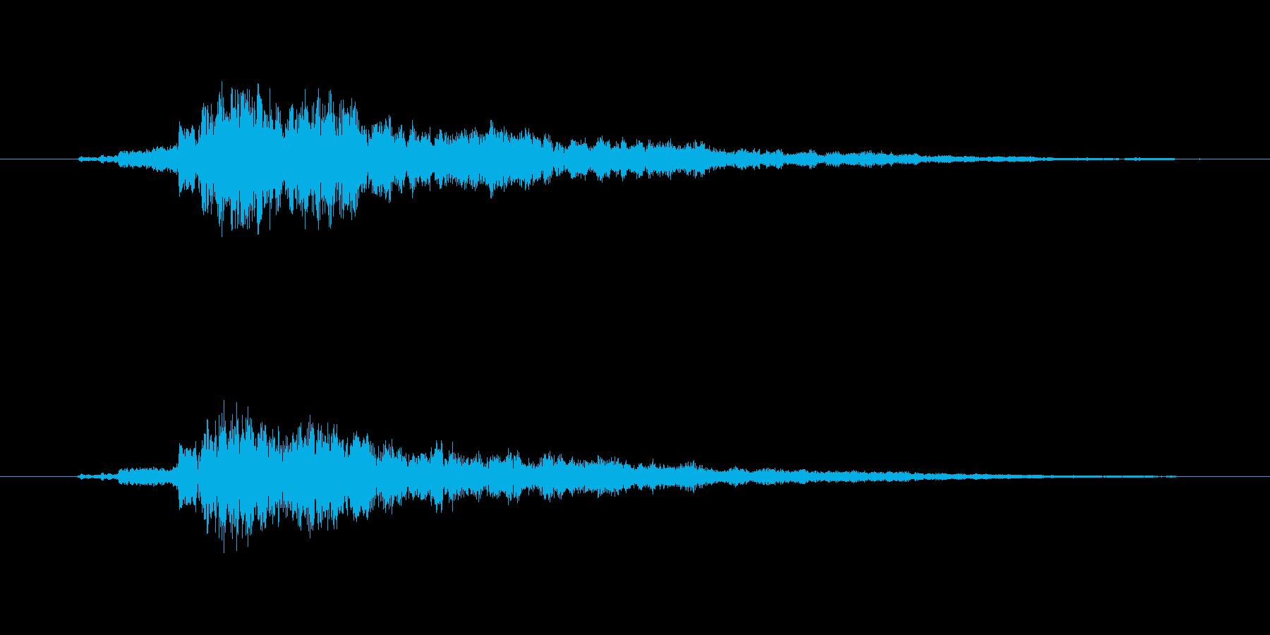 タッチ決定クリック音やサウンドロゴに9!の再生済みの波形
